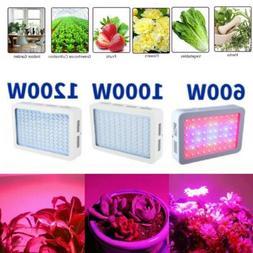 1000W 1200W Watt LED Grow Light Lamp Plants Flower Oganic Gr
