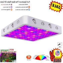 1000W Full Spectrum LED Grow Light Panel Lamp Growing Hydrop