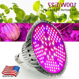 100W LED Grow Light Bulb E27 Plant Lights Full Spectrum for