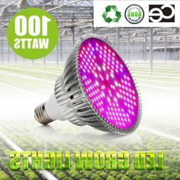 100Watt LED Grow Light Bulb Plant Grow Lamp E27 Full Spectru
