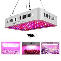 1200W Indoor Garden LED Grow Light Full Spectrum Lamp Seed S