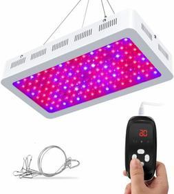 1200W LED Grow Light Dual-Chip UV IR Plant Lamp with Timer f