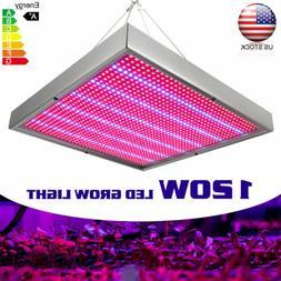 120W LED Grow Light 1131Red 234Blue for Hydroponics Greenhou