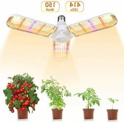 150W E26/E27 414 LED Grow Light Bulb Sunlike Full Spectrum L