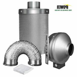 iPower 6 Inch 442 CFM Duct Inline Fan with 6 Inch Carbon Fil