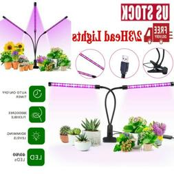 2 3 head led grow lights adjustable
