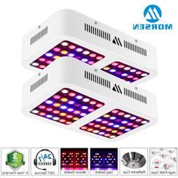 2 Pack Morsen 600w LED Grow Light Full Spectrum For Hydropon
