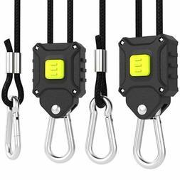 "VIVOSUN 2 Pair 1/8"" Push-Button Adjustable Rope Hangers for"