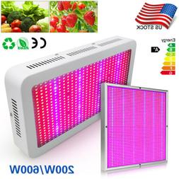 200/600 Watt LED Grow Light Panel Full Spectrum For Greenhou