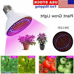 200 LED Grow Light E27 Lamp Bulb for Vegetable Plant Hydropo