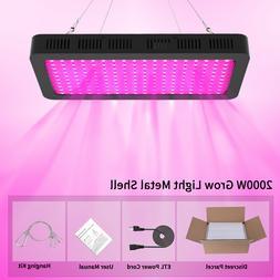 2000 Watt LED Grow Light for Hydroponic Indoor Plants Veg Fl