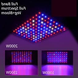 2000W 1500W 1000W LED Grow Light Full Spectrum VEG&Bloom Dua