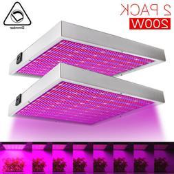 200W Dimmable LED Grow Light Hydroponic Full Spectrum Veg Bl