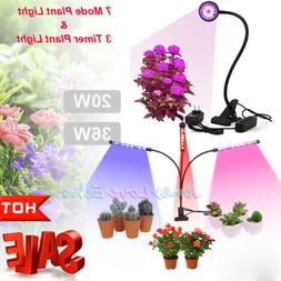 20W 36W LED Grow Light Multiple Heads Full Spectrum Timing G