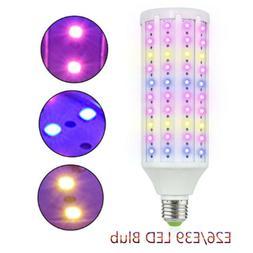 20W LED Grow Light Bulb E26 E39 Full Spectrum 200W Equivalen