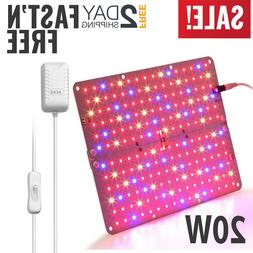 20W ACKE Panel LED Plant Grow Light for Small Indoor Garden