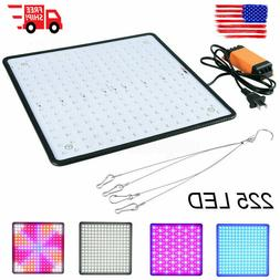 225 LED Grow Light Lamp Ultrathin Panel Bulbs Hydroponics In