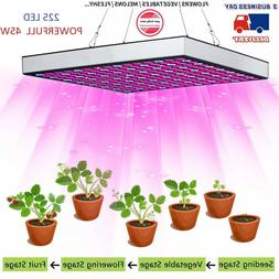 225 LED Indoor Grow Light UV IR Full Spectrum Growing Lamp B