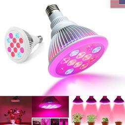 24W LED Plant Grow Light Bulbs Hydroponic Full Spectrum Lamp