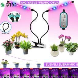 24W LED Plant Grow Light lamp Hydroponics Heads Clip Indoor