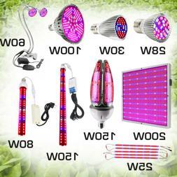 28W-200W LED Grow Light Full Spectrum Indoor Planting Veg Fl