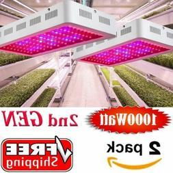 2Packs 102LED 1000w Watt Plant Grow Light for Veg Bloom Lamp