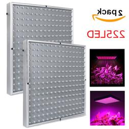 2PCS 225 LED Hydroponic Plant Grow Light Panel Indoor Growin