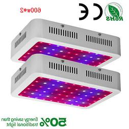 ColoFocus 2pcs 600W LED Grow Light Full Spectrum Hydroponic