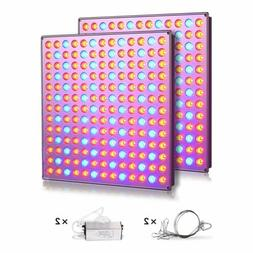 2pcs 75W Led Grow Light Plant Lamp Red Blue Spectrum for See