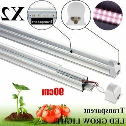 2X 3FT LED Grow Light Tube Full Spectrum LED Lights for Indo