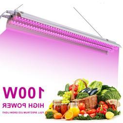 2x100W LED Grow Light Tube Strip Full Spectrum Lamp for Indo