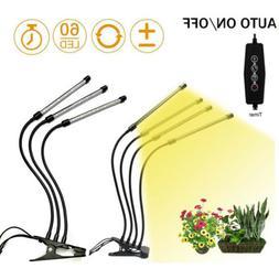 3/4 head Full Spectrum yellow sunlight LED Plant Grow Light