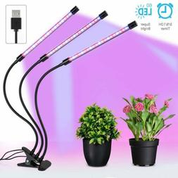 3-Head LED Plant Grow Light Flower Indoor Greenhouse Hydropo