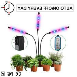 3 HEADs Led plant Grow Light Lamp bulbs Flexible Holder Clip