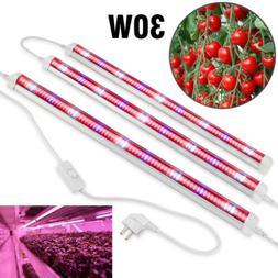 30W 2ft LED Grow Light T8 Tube Bar Full Spectrum Strip Plant