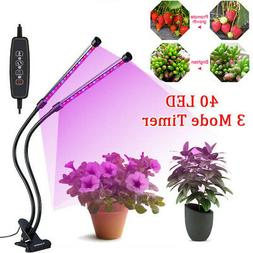 30W Plants Grow Light Lamp + 40 Led Dual Head Plants Grow fo