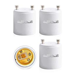 RONSHIN 4/12pcs GU24 to E26/E27 Protable Converter Lamp Hold