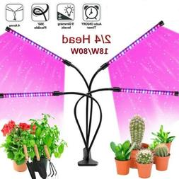 4 Heads 2 Heads LED Grow Light Plant Growing Lamp for Indoor