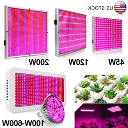 45/100/120/200/600W Full Spectrum LED Grow Light Panel Bulb