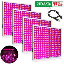 45W LED Grow Light Panel 225 LEDs Hydroponics Indoor Garden