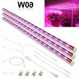4ft 60W LED Grow Light T8 Tube Bar Full Spectrum Waterproof