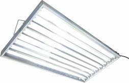 4FT 8 LAMP GROW LIGHT T5 FIXTURE for HYDROGARDENS INDOOR PLA