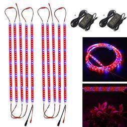 5050 LED Grow Light Strip Bar Full Spectrum Red Blue Lamp In