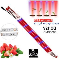 5Pcs x0.5M 25W LED Plant Grow light Strip Bars 5050SMD Red B