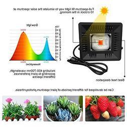 50W LED COB Plant Grow Light 300-830nm Waterproof Dual-use I
