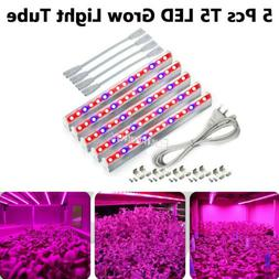 5Pcs T5 Grow Light Bulbs for Indoor Plant Red & Blue Lights