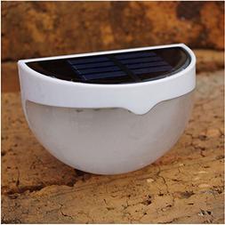 Fashionwu 6 LED Light Sensor Solar-Powered Fence Lamp Yard E