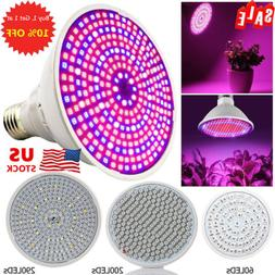 60/200/290 LED Grow Light E27 Light Lamp Bulb for Plant Hydr