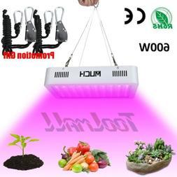 600W LED Grow Light Hydroponic Full Spectrum Indoor Plant Fl
