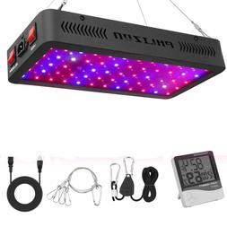 600W LED Plant Grow Light,with Thermometer Humidity Monitor,